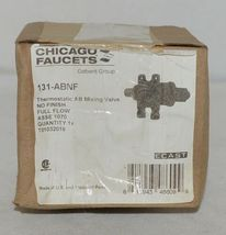 Chicago Faucets Thermostatic AB Mixing Valve Product Number 131 ABNF image 6