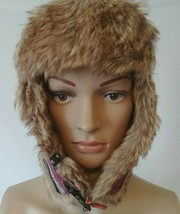 Adora Ushanka Hat With Ear Flaps Faux Fur Lining One Size Multi-Color Un... - $19.99