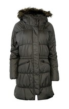 Nwt Columbia L Lg Sparks Lake Long Insulated Women's Jacket Fur Hood Grey $220 - $172.96