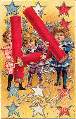 Primary image for Happy 4th of July Vintage Post Card