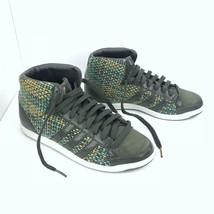 detailed look d860c ba272 adidas Originals Sz 6.5 Women Olive Green Woven Mid Top Shoes Sneakers S..