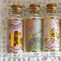 "5Pcs Glass Vials, Vintage Style ""Message"" Set, Tiny Bottles for Memories... - $18.90"