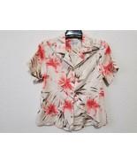 Valerie Stevens Womens Silk Blouse Size M Multicolor Top Short Sleeve Bu... - $17.64