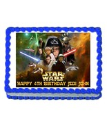 STAR WARS edible cake image cake topper party cake decoration - personal... - $7.80