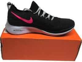 NIB Nike Women's Zoom Fly Flyknit Black / Hyper Pink Running Shoes Size 7.5 - $206.88