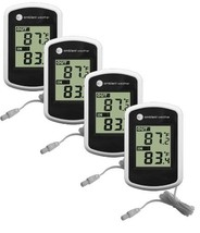 Ambient Weather WS-02 Compact Indoor/Outdoor Thermometer with Probe, 4-Pack - $725,62 MXN