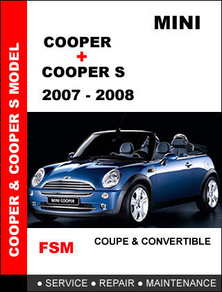 mini cooper coupe convertible factory service repair. Black Bedroom Furniture Sets. Home Design Ideas