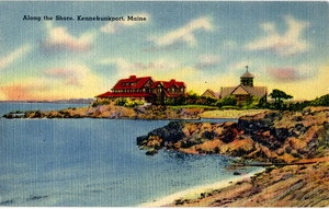 Vintage Kennebunkport Maine Tichnor Linen Postcard