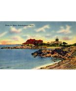 Vintage Kennebunkport Maine Tichnor Linen Postcard - $3.25