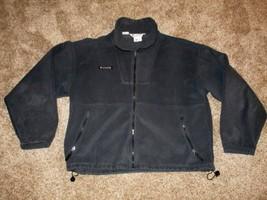 Columbia, Men's Fleece Full Zip Jacket, XL, Navy Blue - $15.88