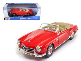 1955 Mercedes Benz 190 SL Red 1/18 Diecast Model Car  by Maisto - $39.99