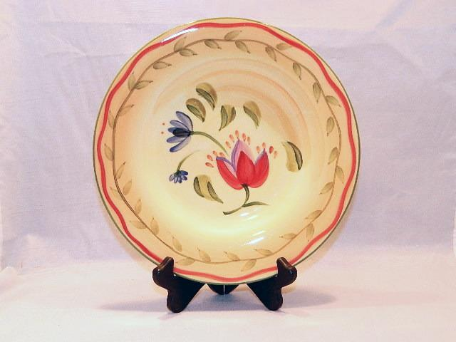 "Primary image for Pfaltzgraff ""Napoli"" Pattern Salad Plate - Bright Colors, Handpainted Piece!"
