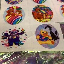Lisa Frank Vintage Partial Sticker Sheet Patchwork Painter  Heart Pandas S109 image 2