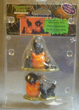 Lemax Spooky Town Halloween Black Cats Jack-o-lantern Pair Set of 2 in P... - £4.31 GBP