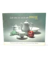 Rare 1965 Syracuse China NY 28pg Brochure Entertaining Ideas Patterns Ga... - $35.52