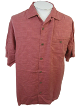 TOMMY BAHAMA Men shirt CASUAL short sleeve pit to pit 24 silk camp luau tropical - $24.74