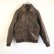 Polo Ralph Lauren A-2 Leather Flight Jacket Blouson Outer Cowhide Wool Brown - $340.00