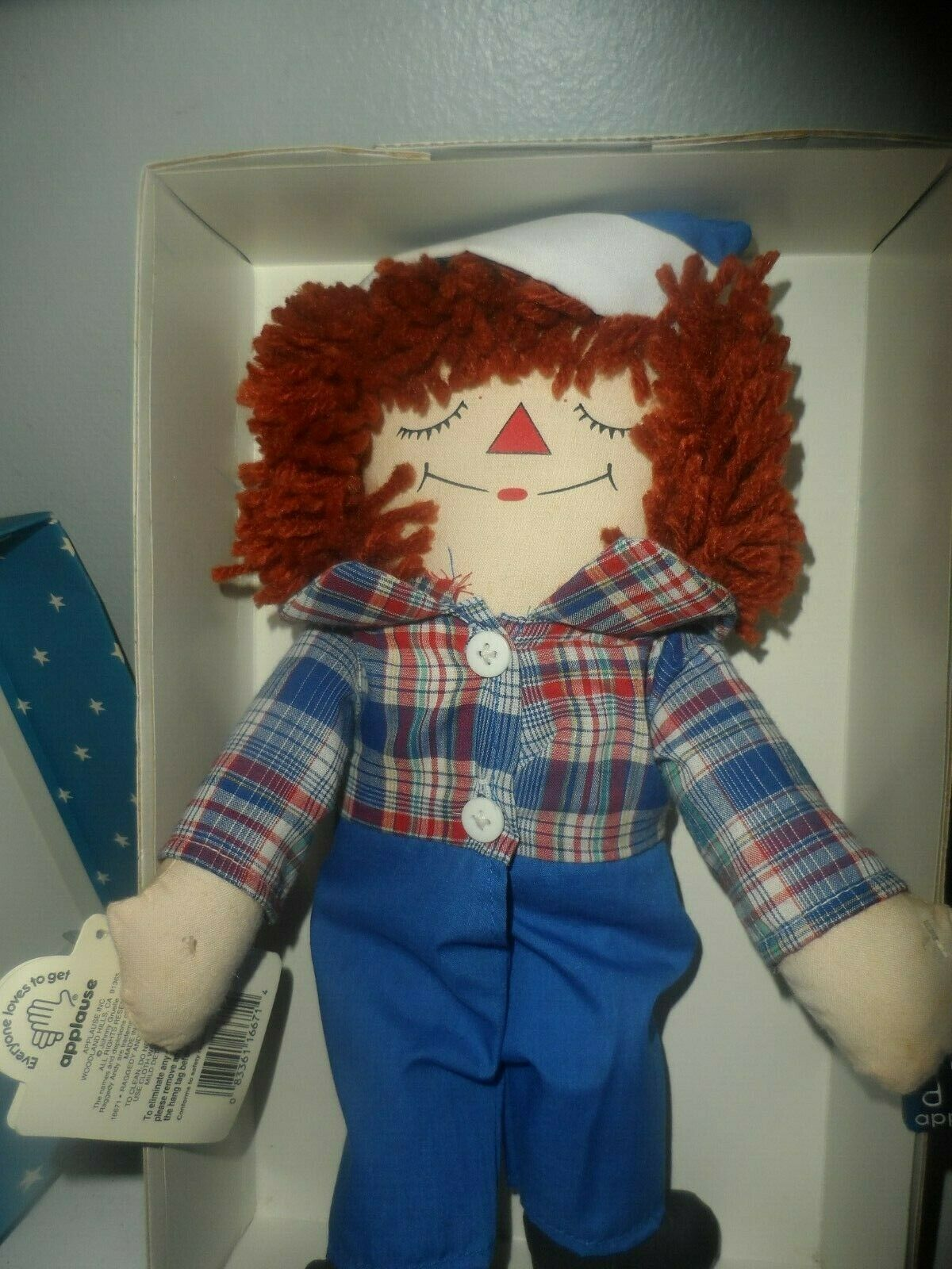 LIMITED EDITION Raggedy Andy Awake/Asleep Doll by Applause image 2