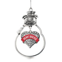 Inspired Silver Red Heart Disease Fight Like a Girl Pave Heart Snowman Holiday O - $14.69