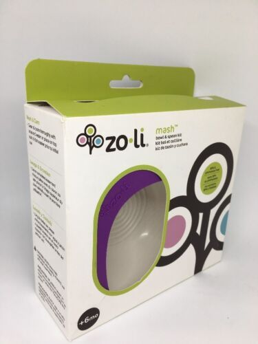ZoLi MASH Bowl & Spoon Kit, Purple - A-BF14MSR001 Kids baby bowl containers image 3