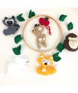 Baby mobile woodland animals Woodland mobile Nursery decor Handmade mobi... - $49.00