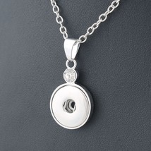 Classic Round alloy 18mm xinnver snap button crystal necklace & pendant ... - $7.99