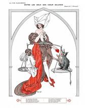 French Pinups: La Vie Parisienne - Girl w/ Balance - Herouard - 1913 - $12.95+