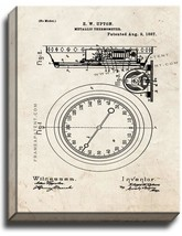 Metallic Thermometer Patent Print Old Look on Canvas - $39.95+