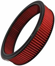 """HIGH FLOW WASHABLE & REUSABLE ROUND AIR FILTER ELEMENT REPLACEMENT 14"""" X 3"""" RED image 8"""