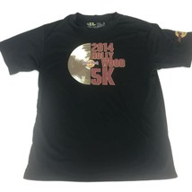 2014 Hard Rock Cafe 5K Run Men's Athletic Compression Black T-Shirt Size... - £10.10 GBP