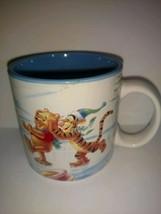 Winnie The Pooh Tigger Eeyore Piglet Coffee Mug Disney Winter Wonderland 1996  - $22.76