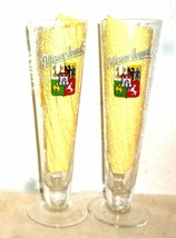 2 Pilsner Urquell Pilsen Czech Beer Glasses & Tin/Metal Coasters - $19.95