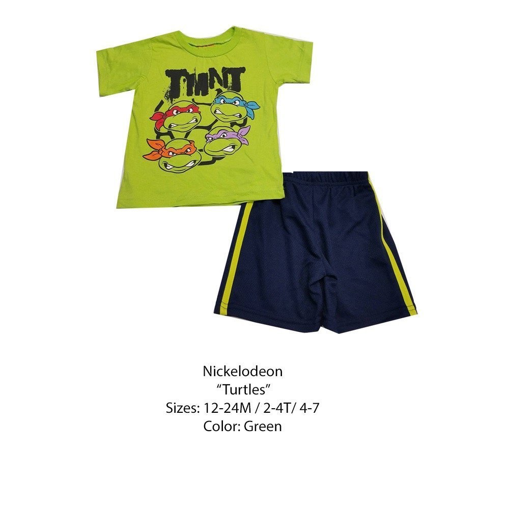 DISNEY KIDS SET (2T, GREEN NINJA TURTLES)