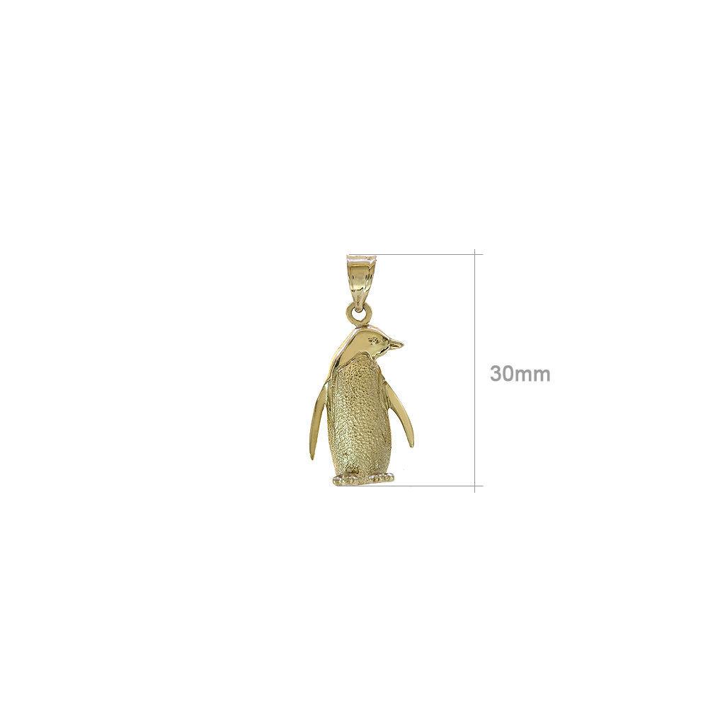 14k Yellow Gold Penguin Charm