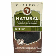Clairol Mens Natural Instincts Semi Permanent Hair Dye Kit M19 Black *NEW* - $19.75
