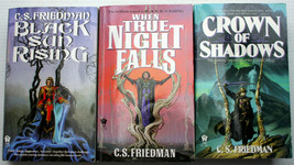 C[elia] S Friedman COLDFIRE trilogy complete BLACK SUN TRUE NIGHT CROWN ... - $9.00