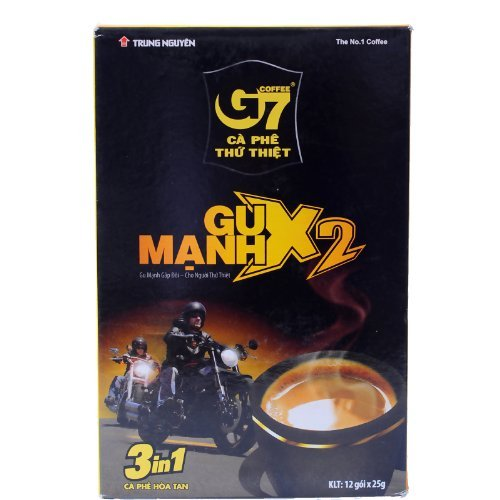 Primary image for Trung Nguyen G7 Coffee Gu Manh X2, 3 in 1 Coffee, 12x25grams