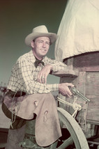 Alan Ladd Classic Western Pose By Wagon Holding Pistol 18x24 Poster - $23.99