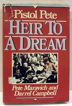 PISTOL PETE HEIR TO A DREAM - Pete Maravich 1987 - Hardcover with Dust J... - $3.32