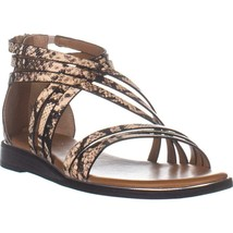 Franco Sarto Gaetana Flat Gladiator Sandals, Natural, 9 US / 39 EU - $38.39