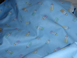 """Baby Bottles Pattern Blue Background Fabric  100% Cotton 44"""" Wide Sold by the Ya - $7.99"""