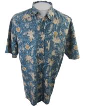 Fast Breakers vintage Men Hawaiian camp shirt XL pit to pit 26 aloha tro... - $19.79