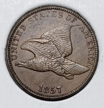 1857  Flying Eagle Cent Coin Lot# MZ 4587