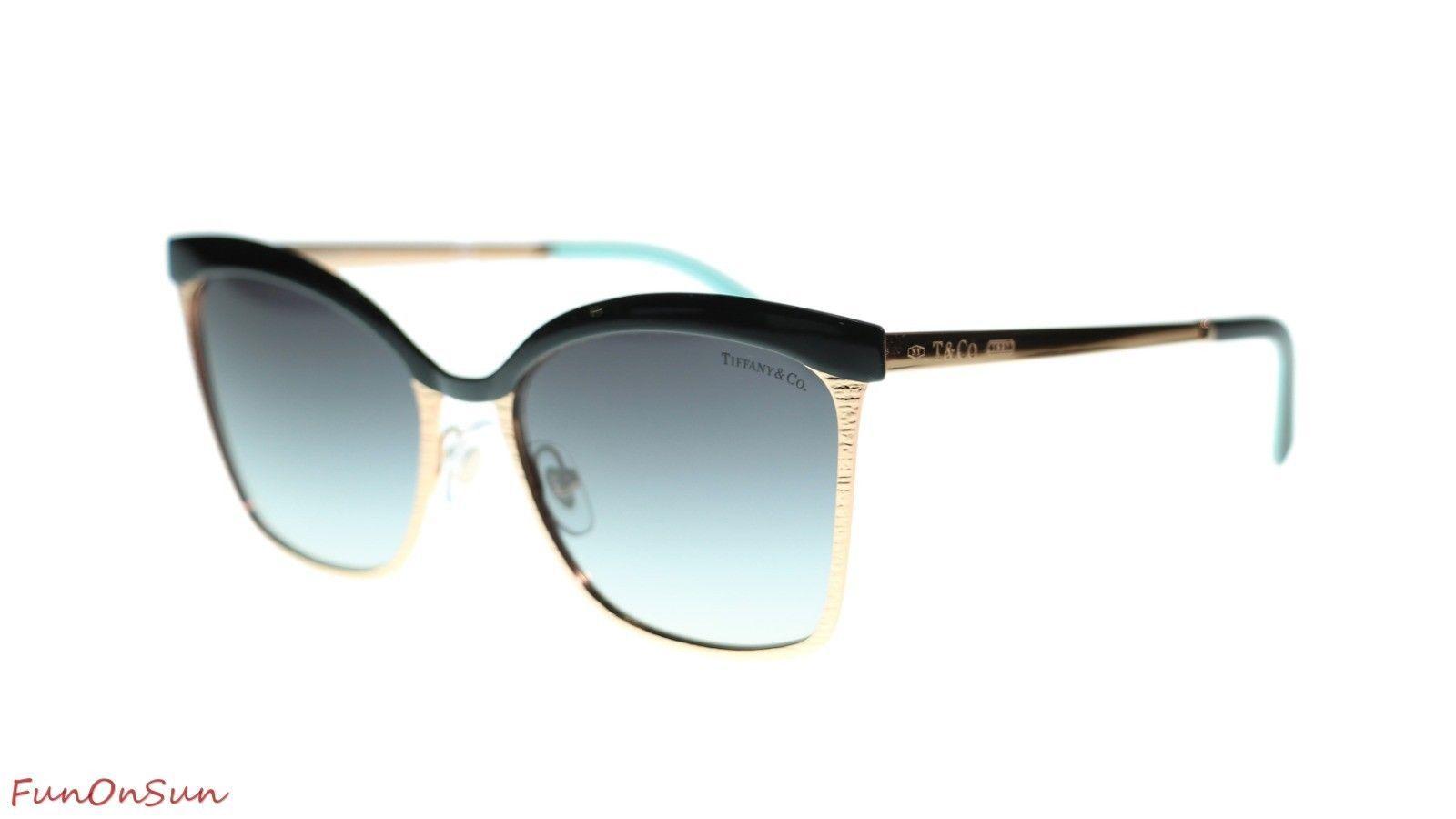 69192f8eb2cb TIFFANY&CO Sunglasses TF3060 61273C Black Rubedo/Grey Gradient Lens 55mm -  $213.40