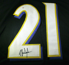 MARK INGRAM / AUTOGRAPHED BALTIMORE RAVENS BLACK CUSTOM FOOTBALL JERSEY / COA image 3