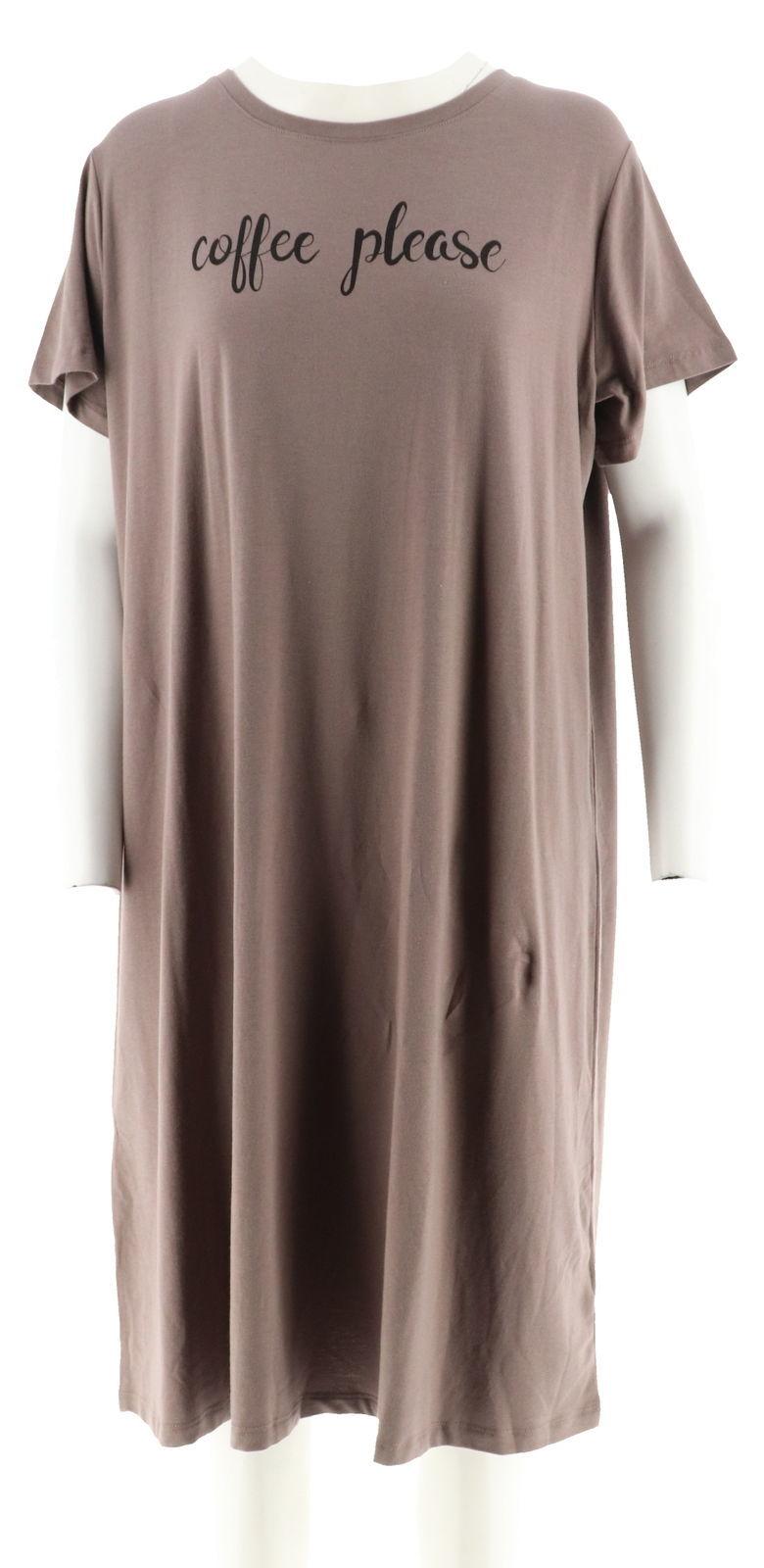f5107a1e9f1d6 Women s Clothing Sleepwear   Robes AnyBody Loungewear Cozy Knit Sleep Shirt  Black XS NEW A289831
