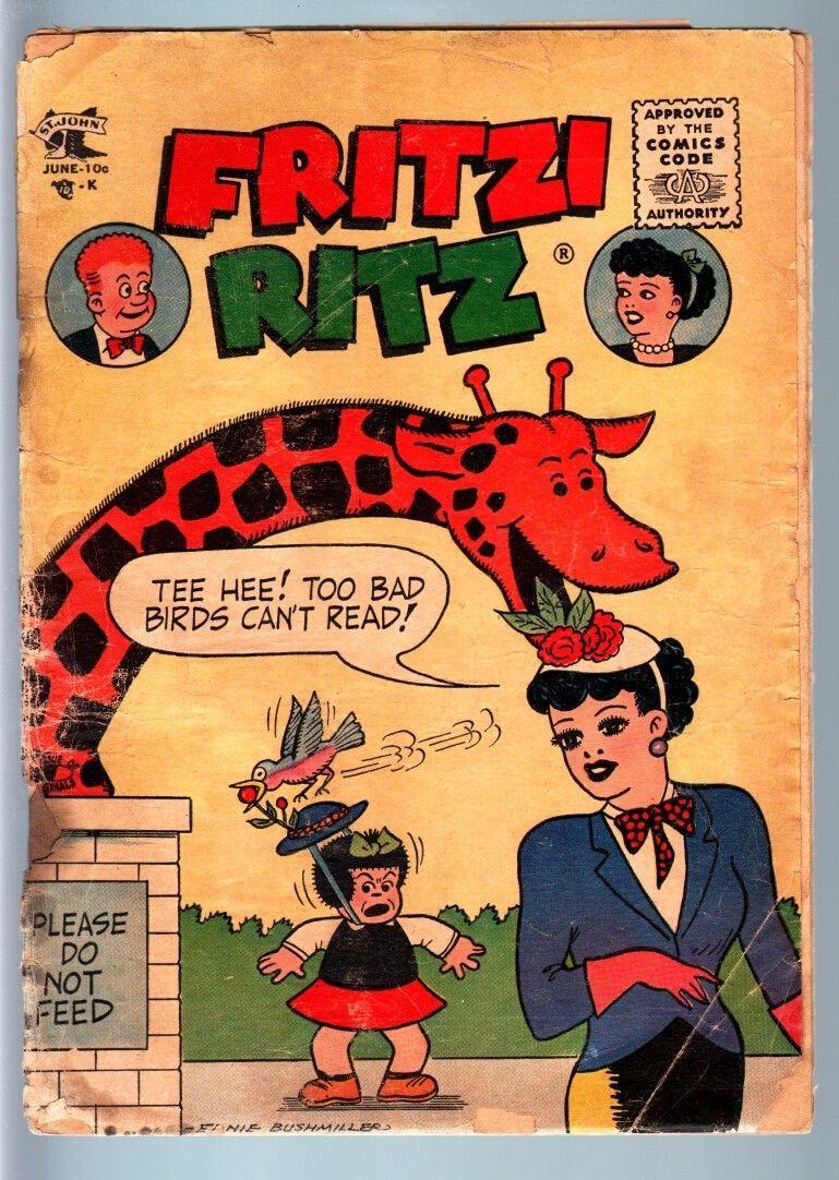 FRITZI RITZ #54-ST JOHN-ZOO GAG COVER-BARGAIN COPY FR