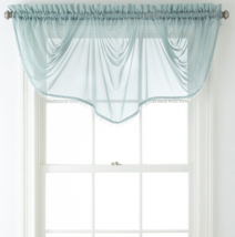 """Home Expressions Lisette Sheer Imperial Beaded Valance 90"""" W X 33 1/2"""" L Aqua  - $21.99"""