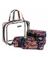 Vera Bradley 4 piece cosmetic organizer in midnight wildflower - $39.99