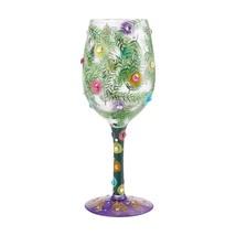 "Christmas Season of Light ""Designs by Lolita"" Wine Glass 9"" High Gift Boxed Gift image 1"